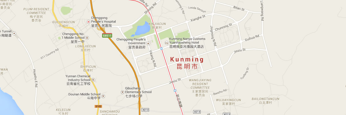 OEA-Kunming-map